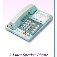 全新雙街線座枱式带免提擴音LCD電話機.2lines HandFree LCD Office Phone