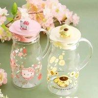 7-11 x 限量版 布甸狗 布丁狗 Pom Pom Purin Hello Kitty Sanrio立體公仔耐熱 玻璃水瓶 水樽 水壼