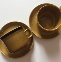 Japan Honey stoneware 80s vintage coffee cup x 2 new