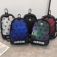 Adidas BackpackAdidas 三葉草3d 菱形男生後背包 愛迪達女生雙肩 背包 運動 休閒 雙肩包 防水皮