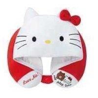 7-11 x Sanrio Characters Hello Kitty LINE FRIENDS BROWN 熊大 別注版頸枕連帽 U型枕 護頸 旅行 旅遊 飛機 午睡